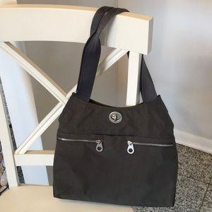 Baggillini Women Hobo Shoulder Bag Grey, Wristlet